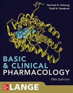 Katzung Basic & Clinical Pharmacology PDF 15th Edition
