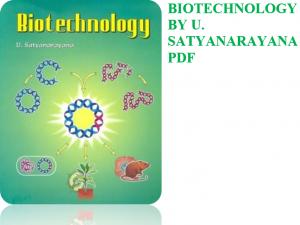 Biotechnology by satyanarayana pdf