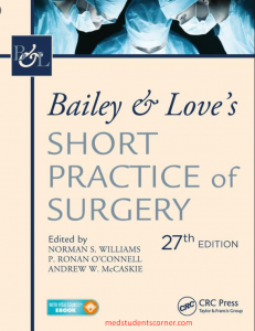 baily and Love's Short practice of surgery pdf