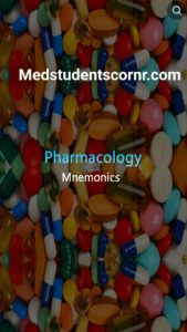 drugs mnemonics