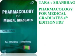tara shanbhag pharmacology pdf 4th edition