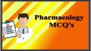Pharmacology mcqs pdf