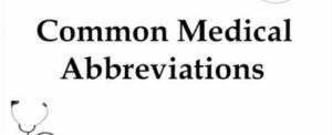 medical abbrviations
