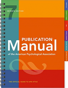 Publication manual of the american psychological association 7th edition pdf