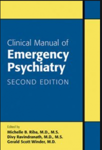 Clincal manual of emergency psychiatry 2nd edition pdf