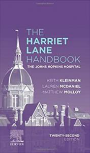 The Harriet Lane Handbook The Johns Hopkins Hospital 22nd Edition PDF free
